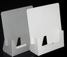 white acrylic/plastic unique brochure holder