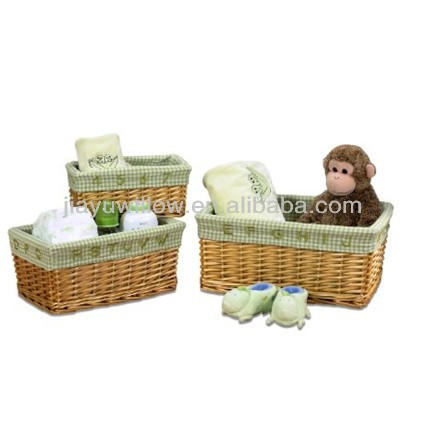 Creative toy willow basket with lining