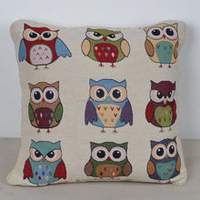 Literary Owl Print wholesale cushion covers inserts