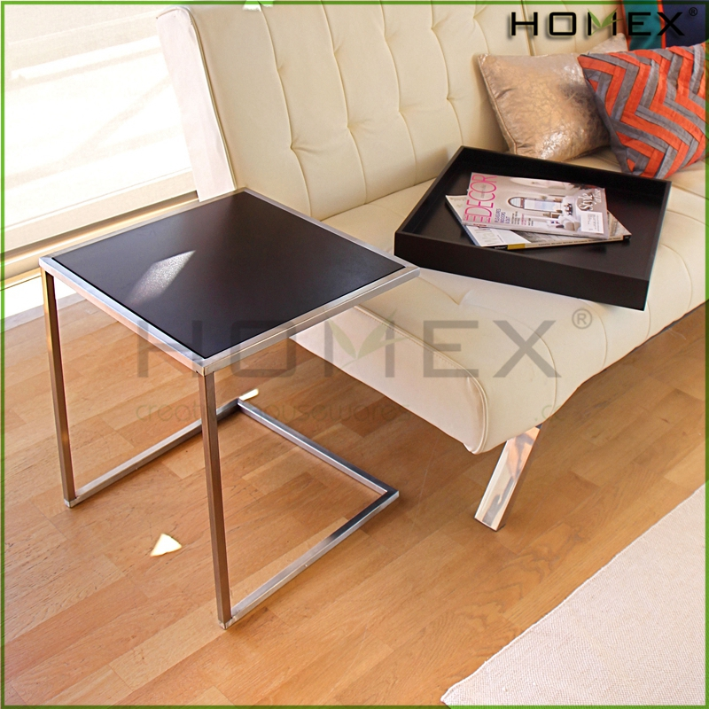 Wooden sofa side table bedside table w removable tray Homex-BSCI Factory