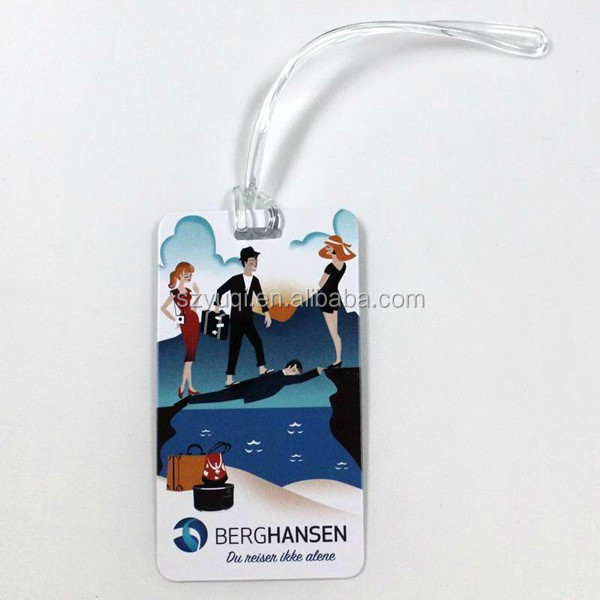 print your own clear plastic luggage tags