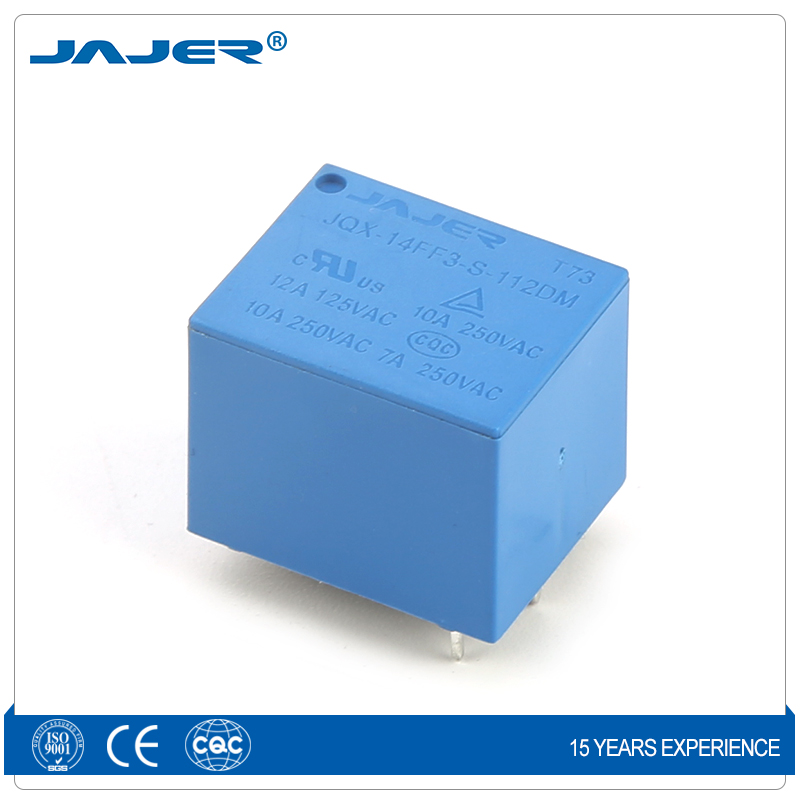 Jajer JQX-3F T73 12V 5 pin 4pin power relay mini PCB relay 5V 7A 10A