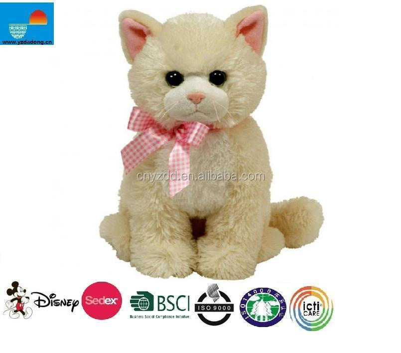 Kids Favorite Musical Plush Toy Cat/plush toy white cat animated