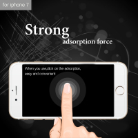 Easy stick elegant pack tempered glass screen protector mobile phone glass for iphone 7 wholesale price