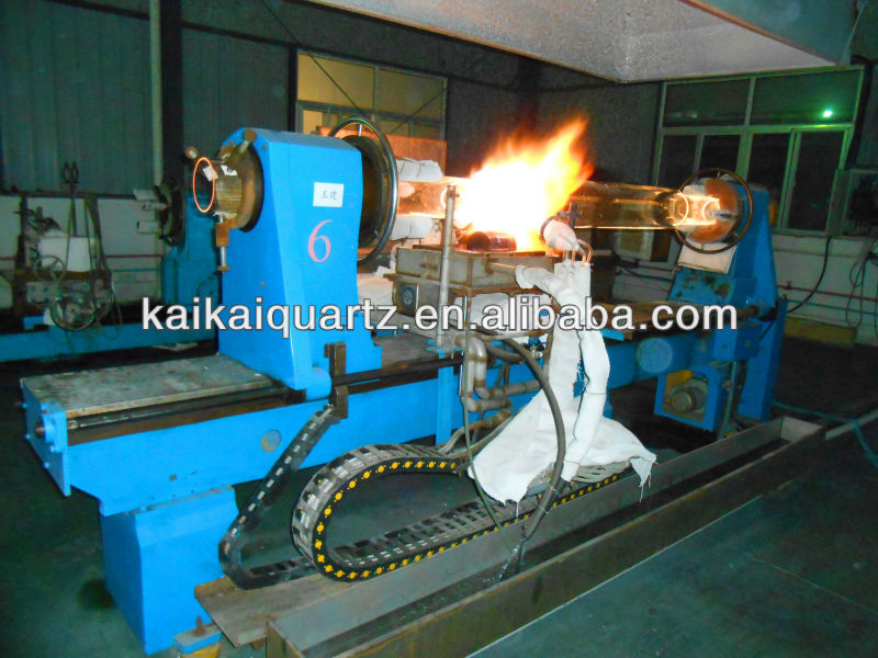 large diameter fire blowing quartz tube forming by glass lathe