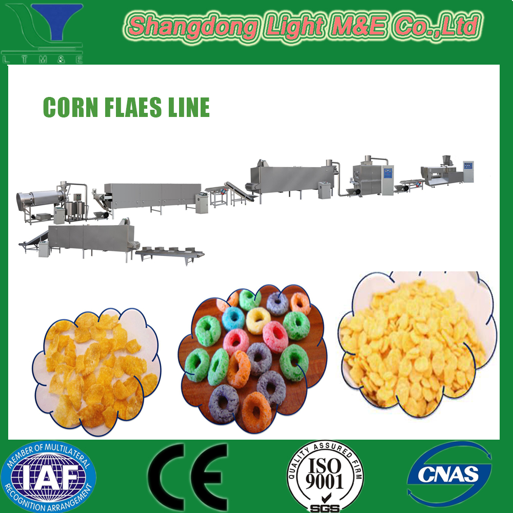 Gluten Free Bulk Breakfast Cereal Corn Flakes Production Line