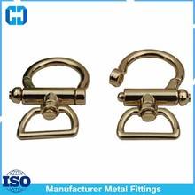 High End Shinny Gold Plated Zinc Alloy Spring Swivel Snap Hook