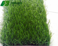 Spine shape synthetic grass with green curly grass for garden