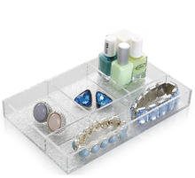 Classic Elegant Acrylic Jewelry Display Serving Tray Makeup Organizer