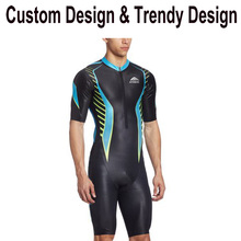 long sleeve custom lycra triathlon suit with 1 pcs