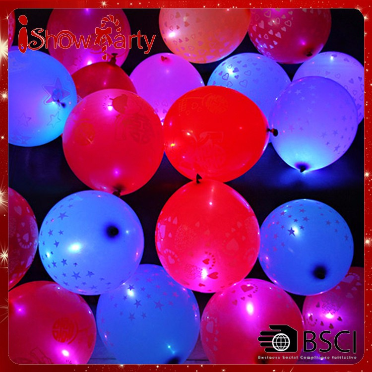 12 Inch Printed Glow In Dark Led Balloons Party Decoration