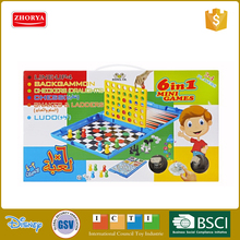 Intelligence 6 In 1 Table Game Play Chess Board Game