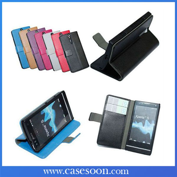 For Sony Xperia S Case Leather Xperia S LT 26i Luxury Case Cover For Sony Xperia S LT26i Flip Case with Stand Function