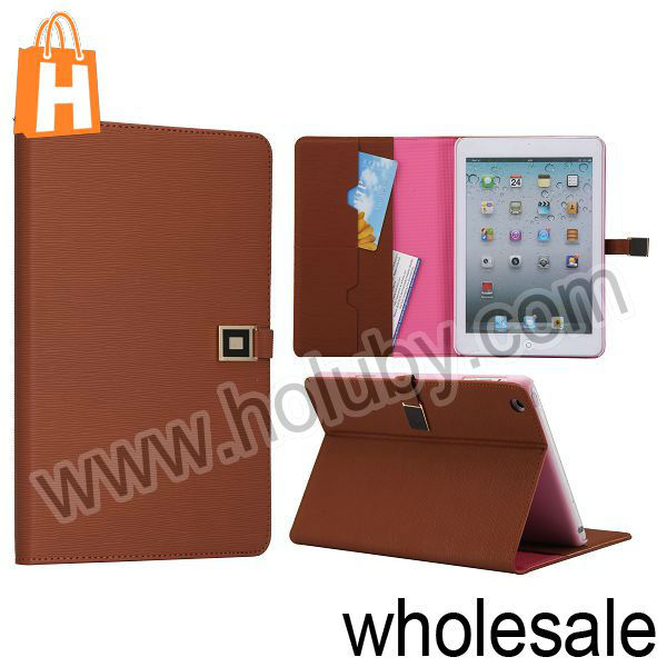 Folio Stand Magnetic Leather Case for iPad Mini with Card Slots