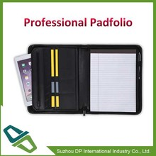 Promotion Leather Padfolio/Portfolio with Zippered Closure