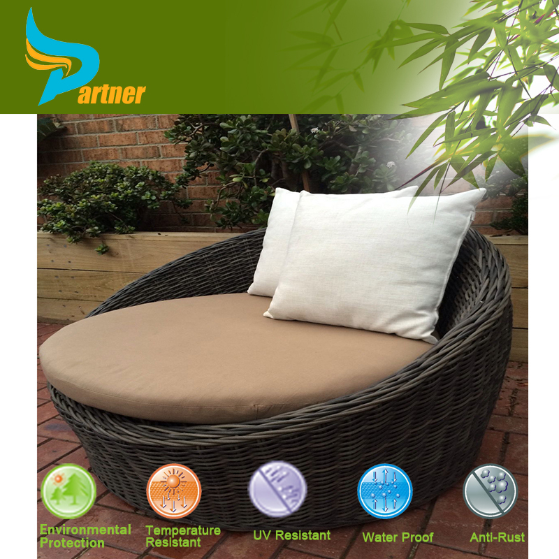 modern comfortable garden furniture patio rattan daybed with colorful cushion cheap round garden sofa bed design wicker sofa bed buy patio rattan daybed
