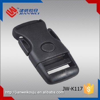 Safety bag accessories 25mm plastic insert press button belt buckle,side release buckles clips JW-K117