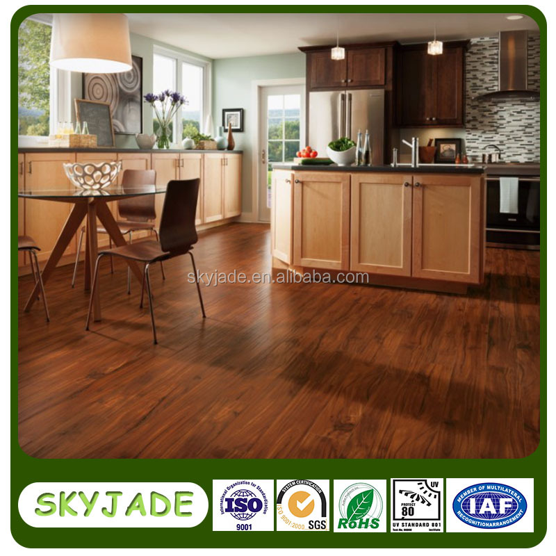 Luxury vinyl tile indoor residential pvc wood flooring with low price