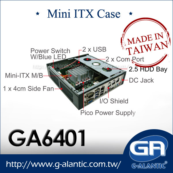 GA6401 - Mini ITX Thin client Terminal PC desktop computer case