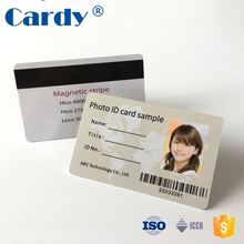 Custom design programmable rfid business card photo id cards printing
