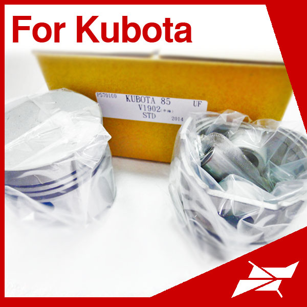 V1902 85MM engine piston with pin for kubota tractor