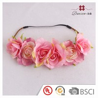 Chic flower elastic hairband artificial flower headband for party