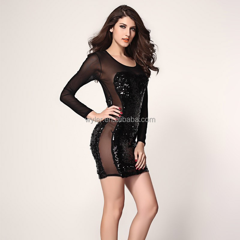Long sleeve sexy dresses pictures