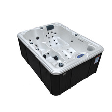 3 Person Acrylic Hrdro Massage Hot Tub With Pop-Up Speakers