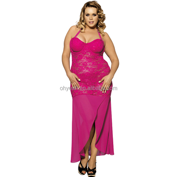 Beat sale rosy transparent sexy night sleeping dress