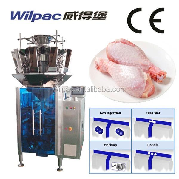 500g, 1kg, 2kg Fresh Raw Chicken Leg Pouch Weighing Packing Machine