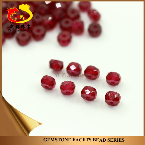 Hot selling Tear Drop shape Faceted cut Synthetic 8# red ruby gems stone