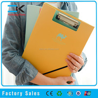 2015 different color pp plastic writing board with metal clip in China