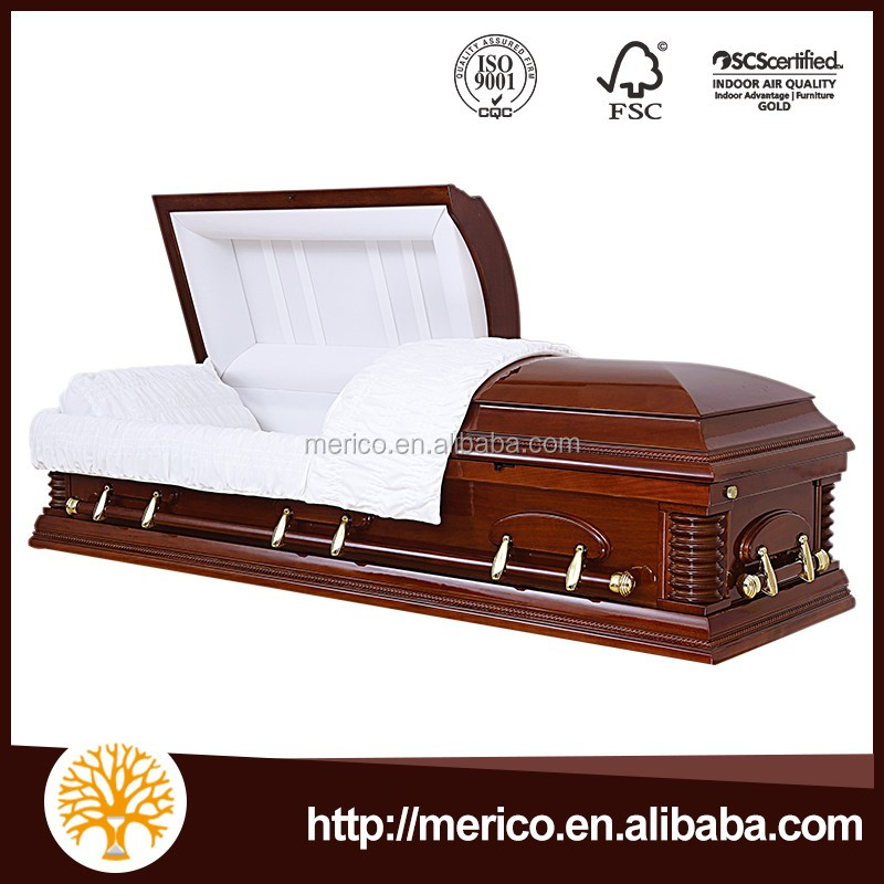 SUMMERVILLE wood veneer funeral coffin most expensive casket