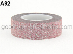 H Brand Series 15mm*10m New DIY Self Adhesive Brown Glitter Washy Paper Tape Masking Decorative Washy Tape
