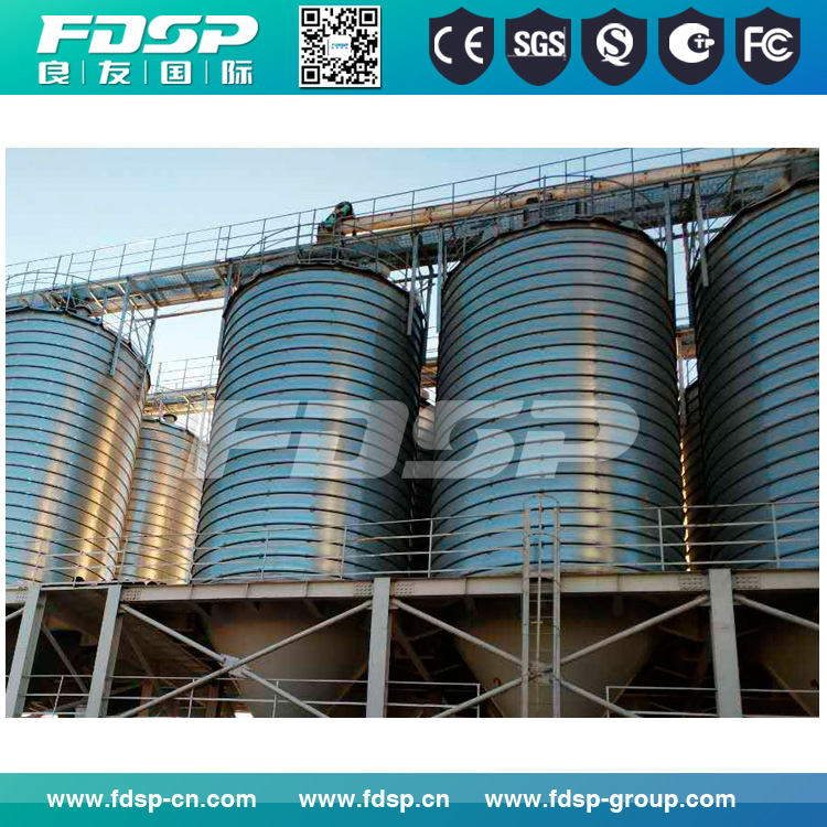 Wide storing capacity range 50T-10000T cement silo grain storage silo for sale with factory steel silo cost