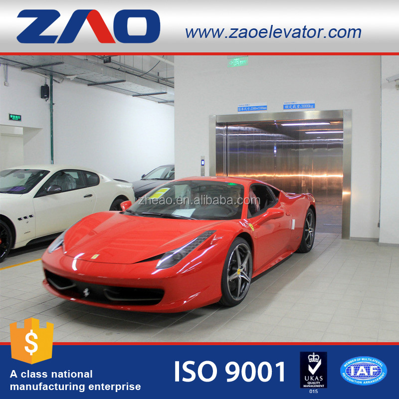 Machine Room ZHEAO Brand Car Elevator Rack Parking Car Lift