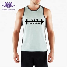 men sports tank tops plain cotton gym workout vest