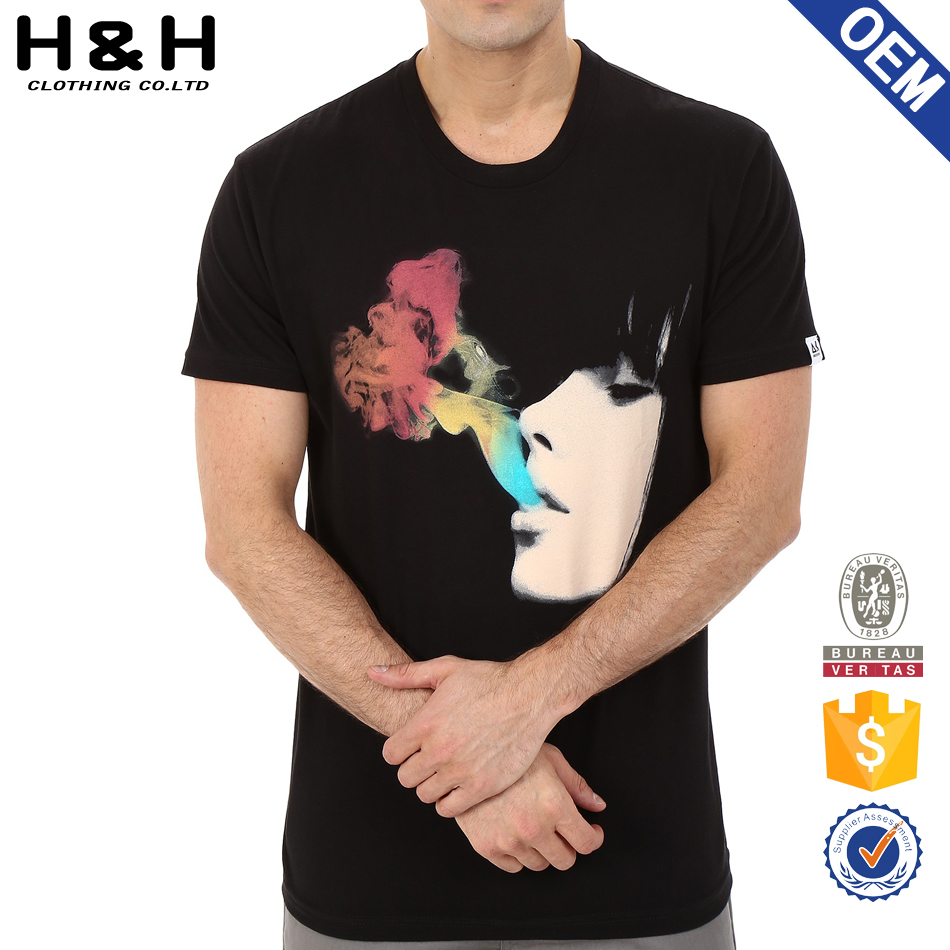 manufacturer Customized high-quality printed OEM T-shirt with Picture