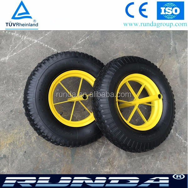 wheel barrow rim natural rubber tyre pneumatic wheel