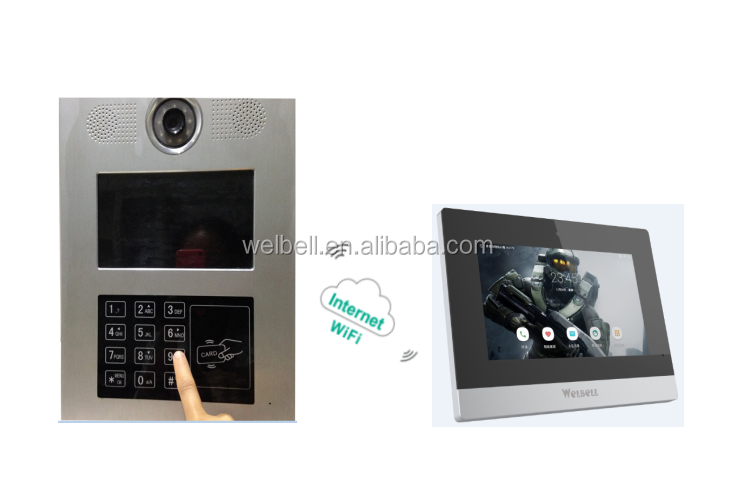 Linux Operation System Video Door Phone For Smart Home To Safe Unlock And Monitoring