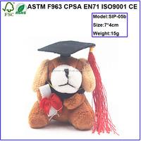 Custom dog stuffed graduation plush toy