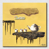 High quality canvas Printed Abstract still life oil painting classical chinese Teapot