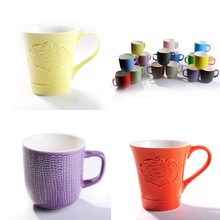 white sublimation mugs with color inside for heat transfer print