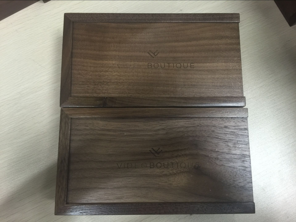Accept custom walnut wood USB box,wooden packaging boxes for USB