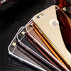 2015 new arrival hot selling Aluminium luxurious chrome mirror case with metal bumper mobile phone cases for iphone 6