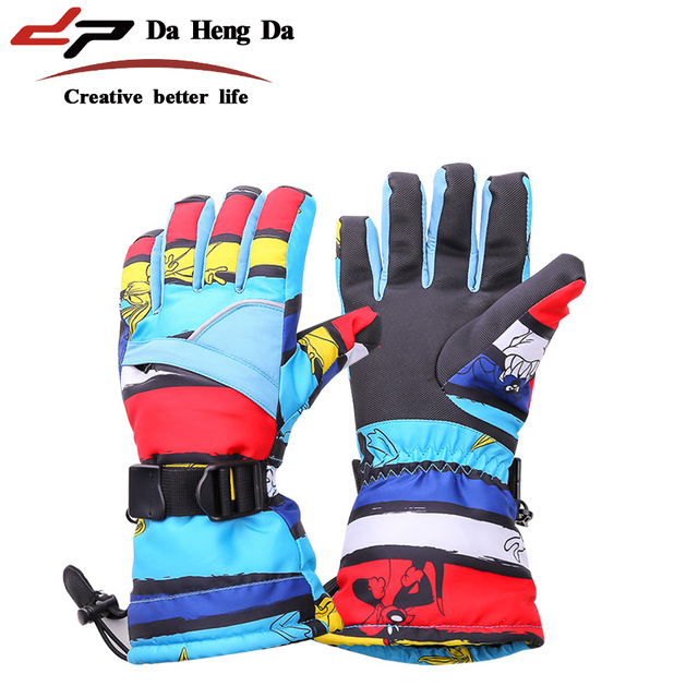 New waterproof non-slip warm riding gloves men and women outdoor mountaineering ski gloves