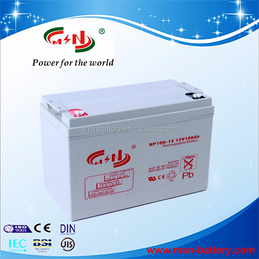 Solar panel battery 12v 100ah rechargeable with inverter
