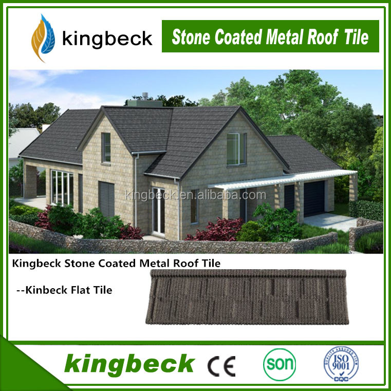 Building material stone coated metal products natural stone chip coated metal roof tiles from Shandong
