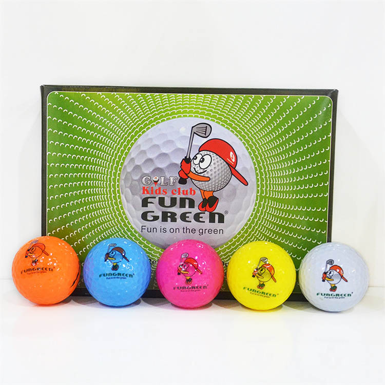 Golf Tournament Practice Ball One Box 12 pcs 2 layers Factory custom kids golf balls