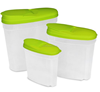 Food Storage Container Green 3 Pack